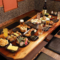 ◆飲み放題コース3,500円~◆BOX個室2名~!掘り炬燵貸切18名~