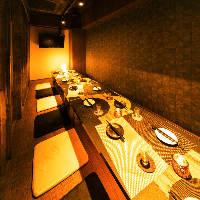 完全個室も多数あり!!ご宴会を楽しむに相応しい店内・料理♪