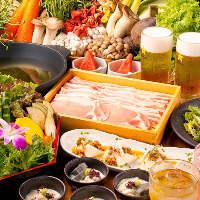 【宴会】旬の食材を使った逸品料理と自慢のつゆ出汁しゃぶ♪
