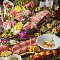 上質なお肉と2H飲み放題がついたコースは8,500円(税抜) 〜