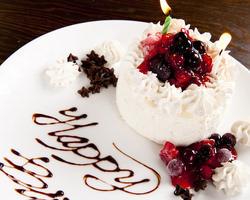 誕生日、記念日には特製ホールケーキプレゼント!!