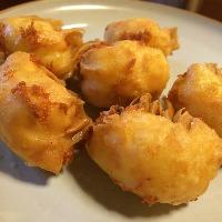 【新メニュー】海老とチーズの揚げワンタン