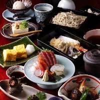 旬食材を堪能できる2時間飲み放題付コースは6,000円~ご用意