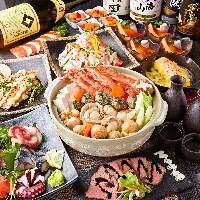 和牛や地鶏、鮮魚の創作和食を多数ご用意。