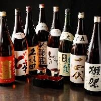 豊富な日本酒・焼酎取り揃えています!レアなものもあるかも!?