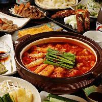 名物「赤から鍋」を味わえるコースを豊富に取り揃えております