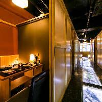 全席扉付き完全個室で、何名様でも個室でのご案内可能です!!