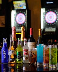 【種類豊富】 パーティーに欠かせない飲み放題メニューも充実のラインナップ
