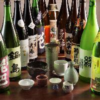 季節のこだわったお酒をご用意。