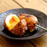 【いちのへ巻】 半熟卵をお肉で巻いて、自家製タレを絡めました