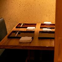 [完全個室完備] 最大8名様迄ご利用可能な上質テーブル席個室