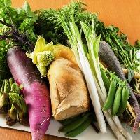野菜にもこだわっています。店主が目利きでえらぶ新鮮野菜。