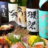 全国各地の厳選から取り寄せた日本酒&焼酎を数多くご用意!