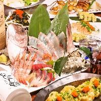 【宴会】3時間の飲み放題付コース3,000円~鮮魚と寿司の贅沢宴会