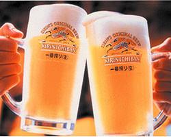 乾杯でまず1杯!一番搾り398円!
