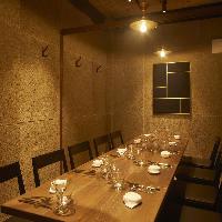 デート・接待・会食・女子会に最適な2~12名様個室を完備