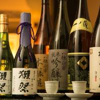 日本酒各種取り揃えています! 人気の「獺祭」