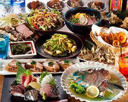 沖縄の味を堪能できるコース料理 飲み放題付3,900円~