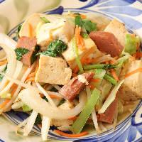 【豆腐チャンプルー】 人気のチャンプルー系でもヘルシーな一品