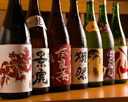 【地酒・銘酒が揃う】 季節のお酒やプレミマム種などズラリ!