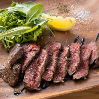 国産牛の希少部位シンシンを使った「牛肉のタリアータ」が絶品♪