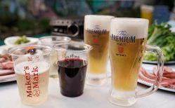 プレミアムコースなら香エールやメーカーズマーク、樽生ワインも飲めます!