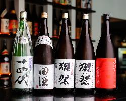 日本酒・ワイン・焼酎…人気のお酒も種類豊富。
