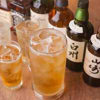 【多彩なドリンク】 ウイスキー・焼酎・ワインなど充実の品揃え