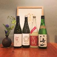 注目のものから個性的なものまで、こだわりの日本酒揃ってます。