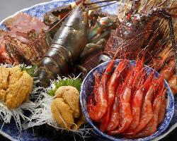 [新鮮な海の幸] 築地直送の新鮮魚介を雲丹しゃぶや創作寿司で