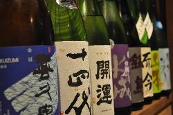 日本酒に力入れてます!もちろん焼酎・ワイン、何でもあります♪