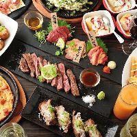 宴会や飲み会、各種お集まりに最適な飲み放題付きコースが豊富