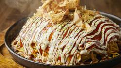 食事のみのお客様も◎大阪&広島流お好み焼きや焼きそばを用意
