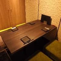 くつろげる和モダン調のスタイリッシュな大小完全個室を完備!