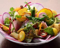 鎌倉野菜メニュー充実。後悔しないお料理お楽しみください