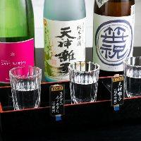 新潟の希少な銘酒を中心に20種以上取り揃え!飲み比べもどうぞ