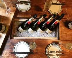 当店自慢の生シャンパンをはじめ、ドリンクの種類も豊富◎