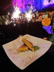 急なサプライズも安心!ケーキ、花火は常にご用意しております!