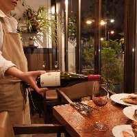 こだわりのBioワインは恵比寿の専門店より厳選してます。