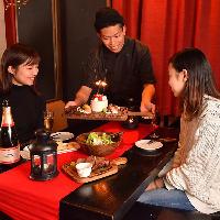 【誕生日・記念日】4名様以上でホールケーキプレゼント♪