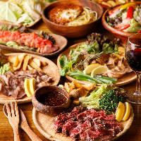 お肉や人気のチーズ料理を堪能できるコースは2,780円(税抜)〜