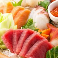 串焼き以外にも、新鮮獲れたて鮮度抜群の旬鮮魚も!歓送迎会に。