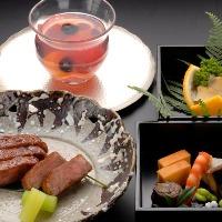 本格割烹料理でだけでなく、和牛懐石・秋は松茸懐石も。