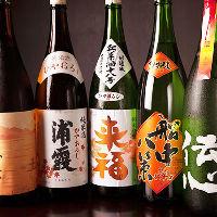 季節毎におすすめの日本酒ご用意!ごゆっくりご堪能ください!