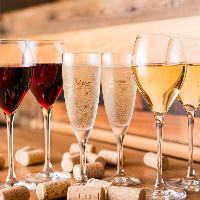 スパークリング含むグラスワイン280円&ボトル1,800円~(税抜)