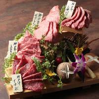「特選神戸牛4種階段盛り」は階段の下から食べていって