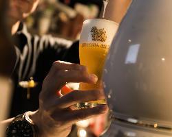 日本では珍しい!タイのシンハービール樽生を提供いたします!