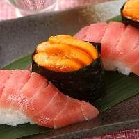 店主が厳選した新鮮なネタの寿司をご堪能ください!