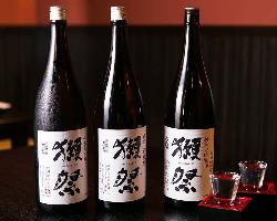 『獺祭』等人気の日本酒もご用意しております。
