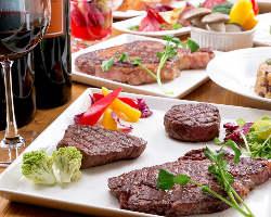 熟成肉を堪能できるコースは全9品4000円~ご用意しております。